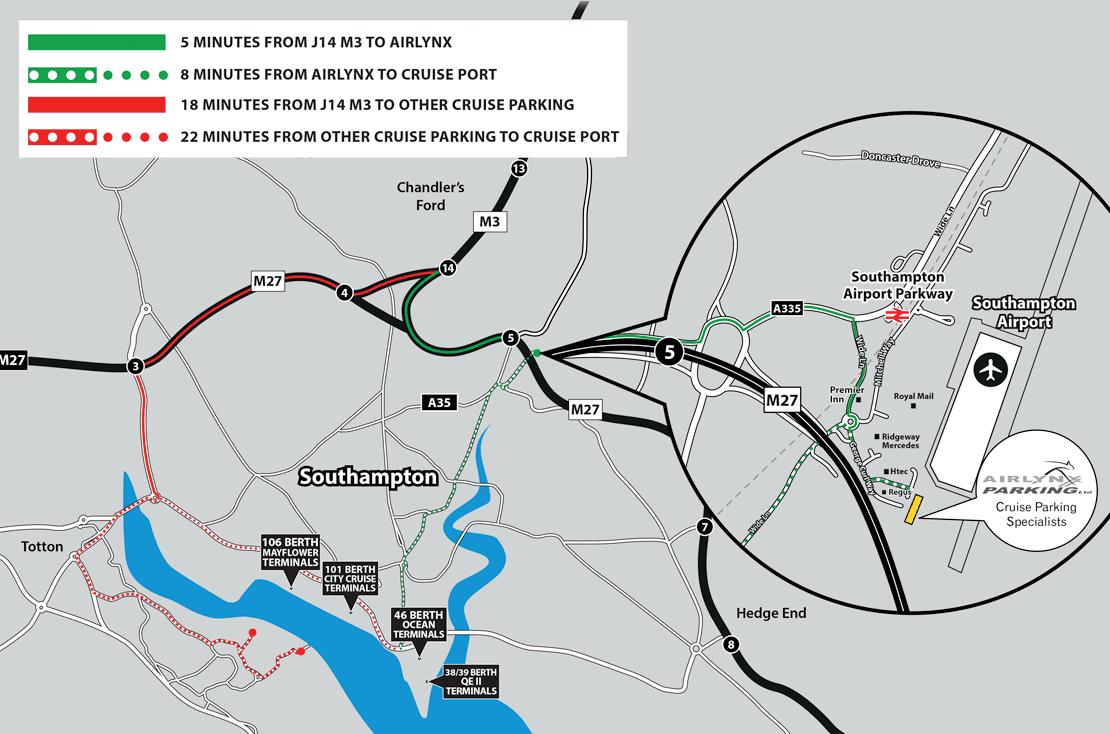 Southampton competition map